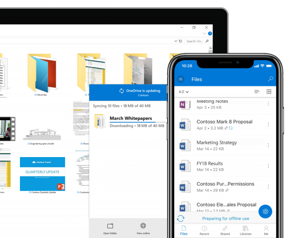 OneDrive desktop and mobile