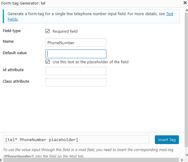 contact form 7 configuration