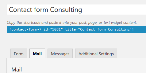 contact form 7 inserting the contact form