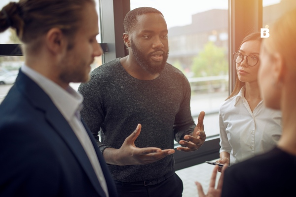 Cloud is Sustainability For Humans and the Planet - people talking